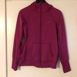 Magenta Nike Zip Up Hoodie